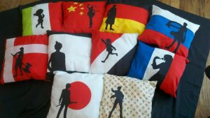 Hetalia Pillows part 2 by Evilwarlordgu
