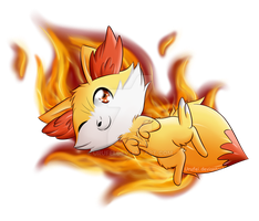 I choose Fennekin! by Urufei