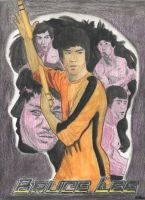 Bruce Lee Colored Poster by Phoenix74n