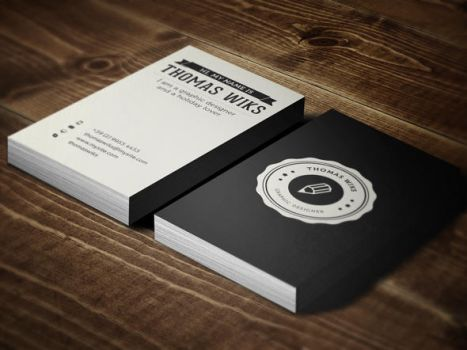 Creative Retro Business Card by themeflava