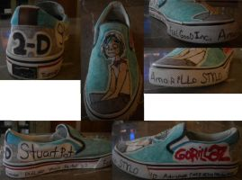 My custom 2-D shoes by 23-hour-party-people