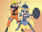 Team-Up! Naruto Uzumaki and Star Butterfly by DragnBoi65