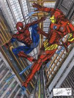 Iron Man Vs. Spiderman by CJRogue