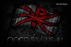 Disciple 'O God Save Us All' Album Cover Flag by FBGNEP