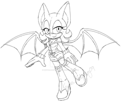 Rouge outfit design -Channel sketch-  by KeyaraHedgehog09