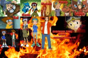 Digimon Fire Boys by kulovers09