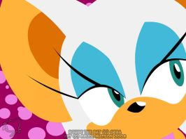 Rouge Vector Wallpaper by Trowelhands