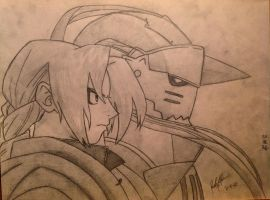 Edward and Alphonse Elric by igottabubu