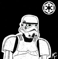 -Storm Trooper Sketchcard- by CrashyBandicoot