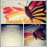 SunSet Monarch Butterfly 1 by AngelAmethyst