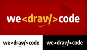 We Draw Code Logo by dRoop