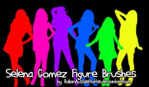 Selena Gomez Figure Brushes by italianaussiehottie