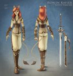 Rowen Model Sheet by SecretWalrus
