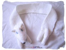 White Snow Fox Scarf by Cateaclysmic