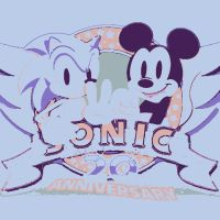 My childhood Sonic and Mickey Mouse by DevintheCool