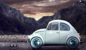 Fusca compacto by Jeanlsouza