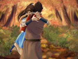 Makorra WIP - These days I spend with you by Ellwell
