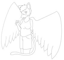 Free Lineart - Scruffy Chubby Gryphon by CassidyPeterson