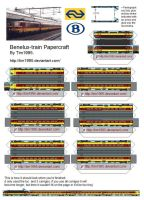 Benelux-train Papercraft by Tim1995