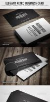 Elegant Retro Business Card by vitalyvelygo