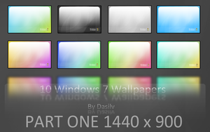 Windows 7 Wallpapers: One by dasilv