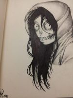 Jeff The Killer Drawing by CheshireCatxAlice