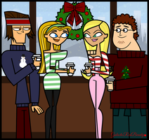 Total Drama Christmas- Lyler and Samkota by Galactic-Red-Beauty