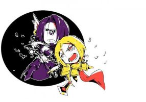 League of Legends: Chibi Morgana and Kayle by An2010Dn