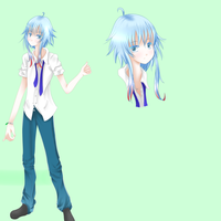 Yuki (RPG game character) Ref sheet by Choaru