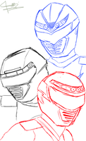 improoved sketch of boukenger by sdmarquez