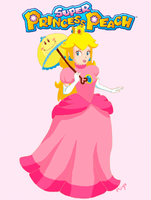Princess Peach and Perry by Nicole-Mizu
