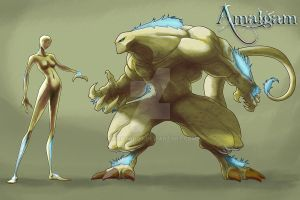 Amalgam character concept by RoboTarot