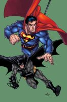 :Wyas SuperMan+Batman+Colors: by IvyBeth