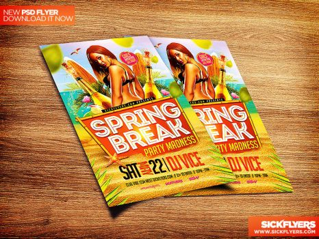 Spring Break Flyer Template PSD by Industrykidz