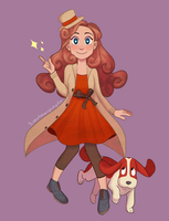 Lady Layton by sweetmarshmella