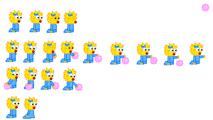 Maggie Simpson Sprite Sheet by Cuddlesnowy
