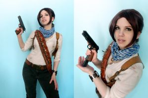 Rule 63 Uncharted 3 Nathan Drake cosplay by LadyofRohan87