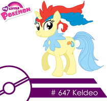 Keldeo -MLP Style- 'Colored' by Vicarious-Oblivion