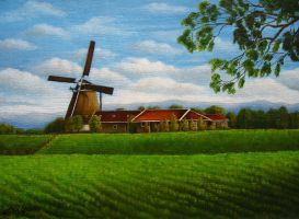 A Windmill In The Country by ohtwoakey