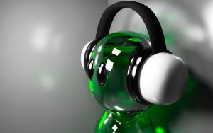 Glossy 3D headphone guy by sam2993