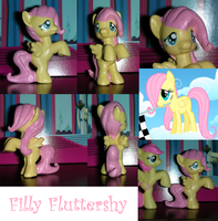 Filly Fluttershy Custom by TianaTinuviel