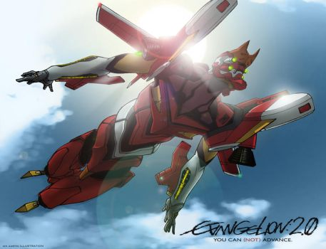 Evangelion 02 2.0 Flight-type by mostlymade