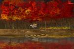 Red Forest by cdblue
