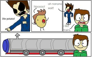 Trains and potatoes. by mabiesison