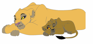 Lioness And Cub adopt-five points by werewolftg