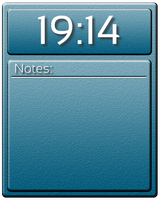 Clock With Notes Widget by Slavoo123