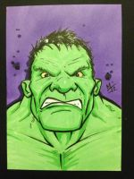 Hulk sketch card by MikimusPrime