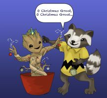 O Christmas Groot by elephantblue