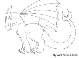 Night Fury Lineart 3 by Marcella-Youko