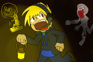 PewDiePie Fan Art - RUN PEWDIE by yinyang123ofroblox
